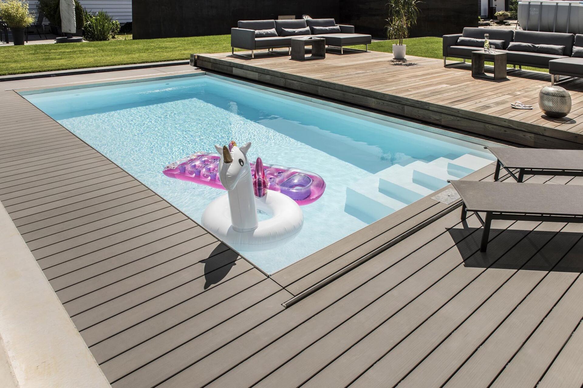 Abdeckung - Poolbau Tirol - SST Saurwein Schwimmbad Technik