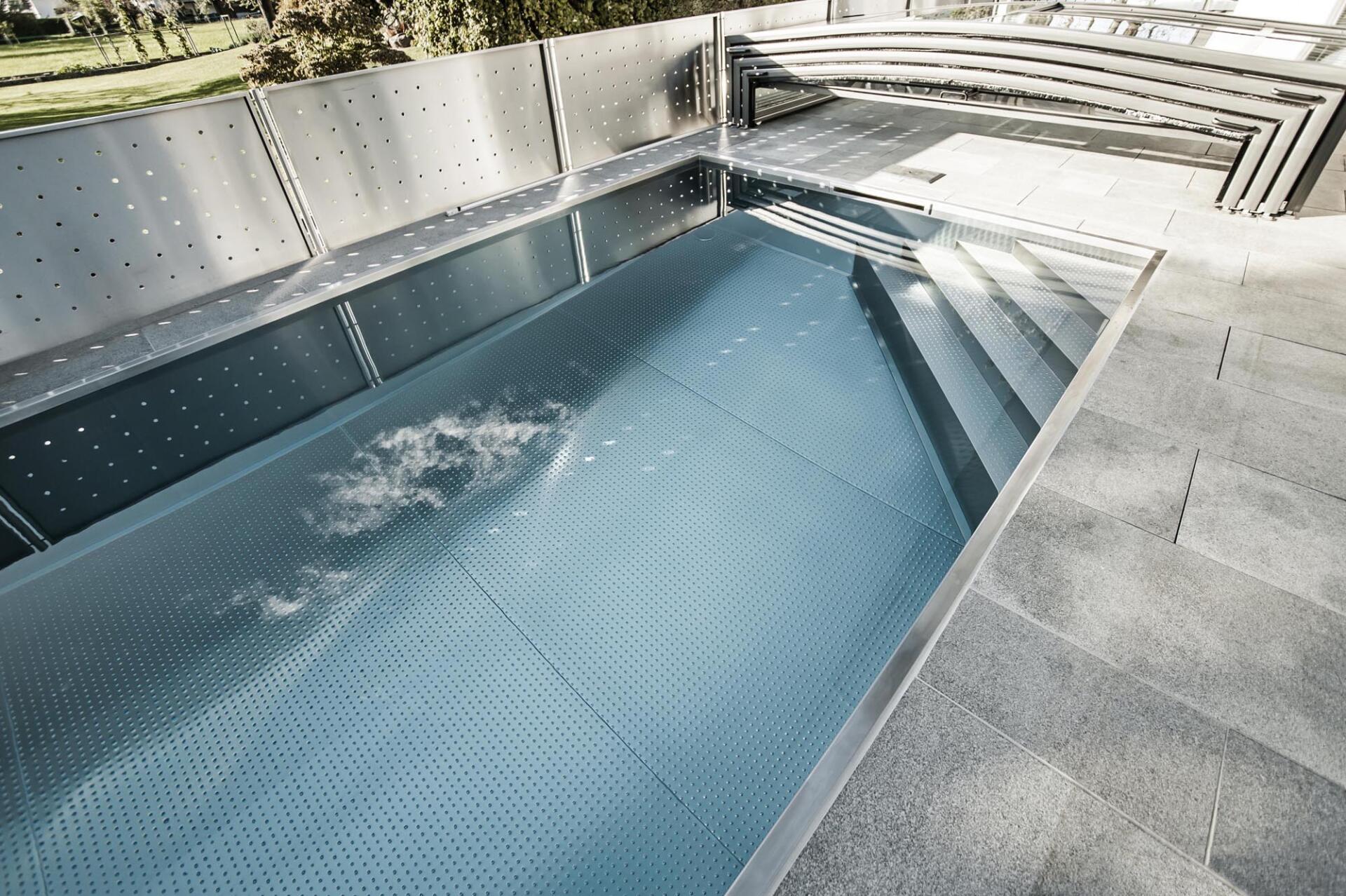 Abdeckung Pool - Poolbau Tirol