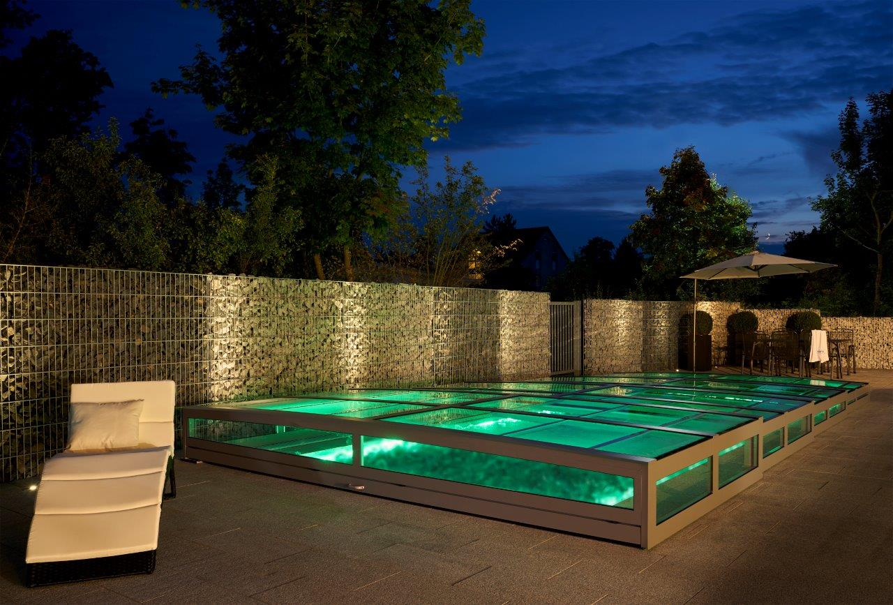 Abdeckung Pool - Schwimmbadbau Tirol SST