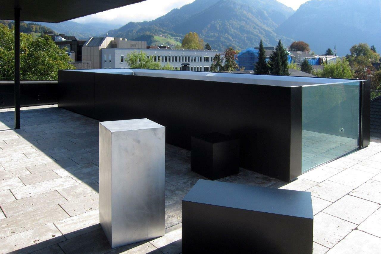 Pool Edelstahl Glas - SST Saurwein Schwimmbad Technik